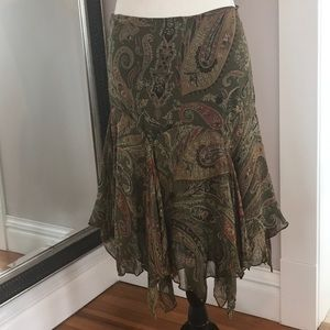 Ralph Lauren 100% silk skirt